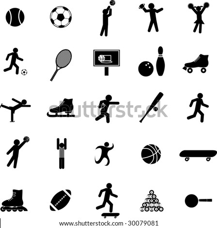 sport symbol set - stock vector
