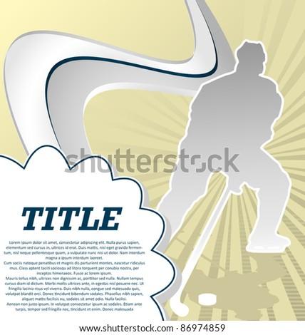 Sport Template Poster Hockey. Vector Illustration. - stock vector