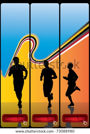 Sport vector banners - stock vector