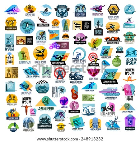 sport vector logo design template. fitness or gym icon. - stock vector