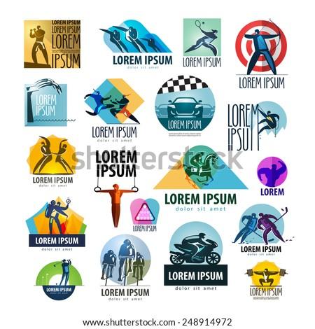 sport vector logo design template. sportsman or health icon. - stock vector