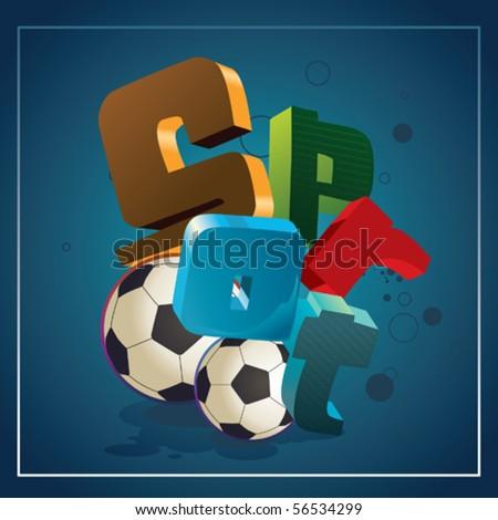 sport wallpaper - stock vector