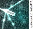 SPORT. Word collage. - stock photo