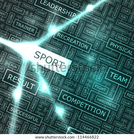 SPORT. Word collage.