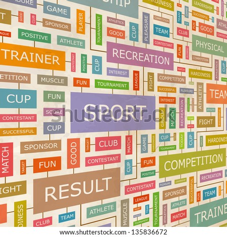 SPORT. Word collage. Vector illustration. - stock vector