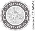 SPORT. Word collage. Vector stamp. - stock photo