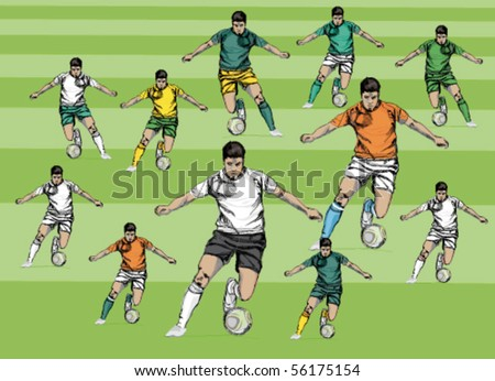 Sporting costume of soccer teams. - stock vector