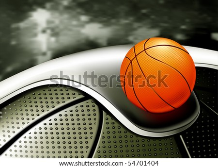 Sports Background, Basketball - stock vector