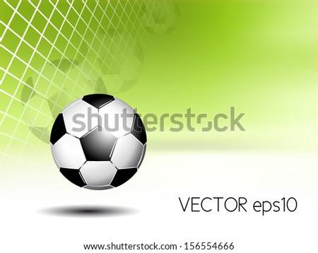 Sports background - soccer ball in net - stock vector