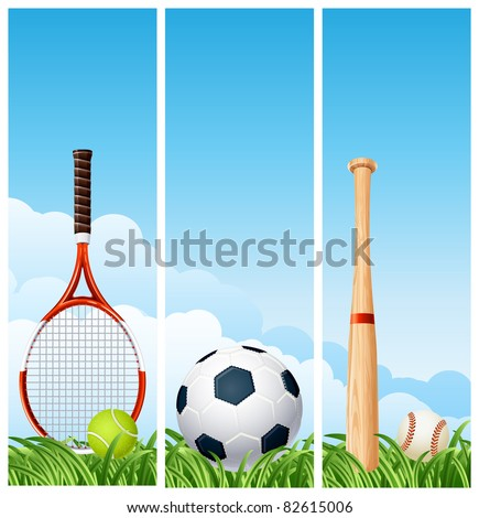 Sports banners - stock vector
