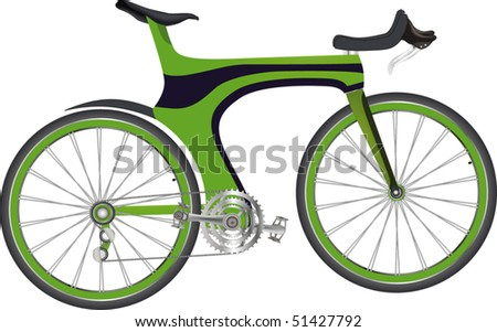 sports bicycle - stock vector