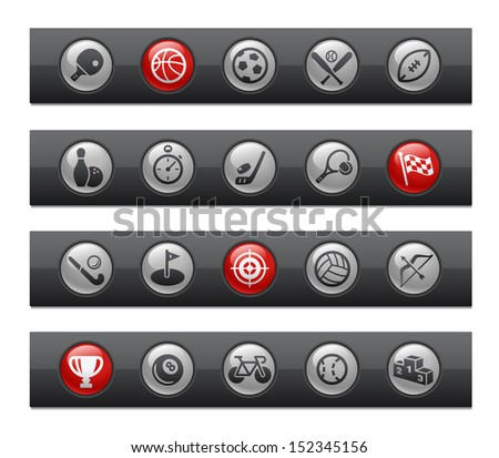 Sports // Button Bar Series  - stock vector