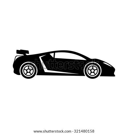 Sports Car Icon Stock Vector Shutterstock