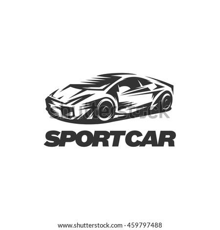 Sports Car Logos Icon Vector Illustration Stock Vector 459797488