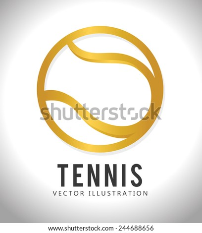 Sports design over white background, vector illustration. - stock vector