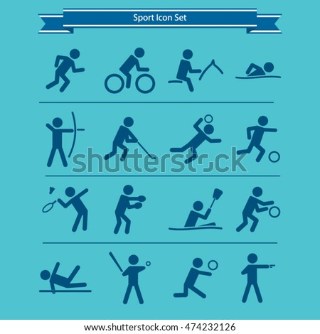 Sports icon set. Vector.