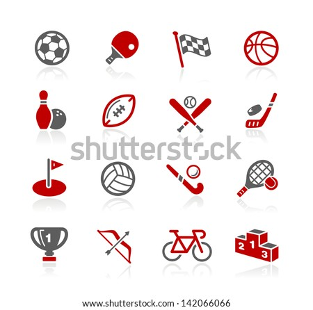 Sports Icons // Redico Series - stock vector