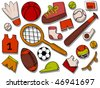 Sports Icons - Vector - stock