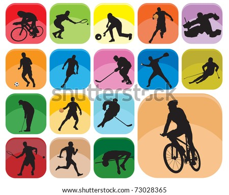Sports Icons. Vector illustration - stock vector