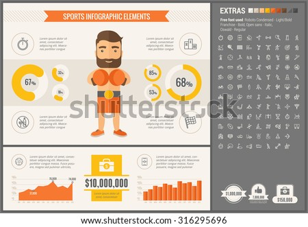 sports infographics templates - healthy lifestyle infographics compare fat slim stock