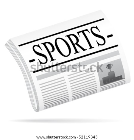 Sports newspaper. Vector illustration. - stock vector