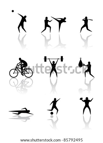 Sports. People silhouettes - stock vector