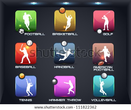 Sports Set Apps Vector Icon