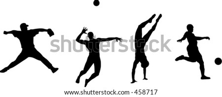 Sports silhouette - stock vector