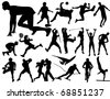 Sports silhouettes - stock vector