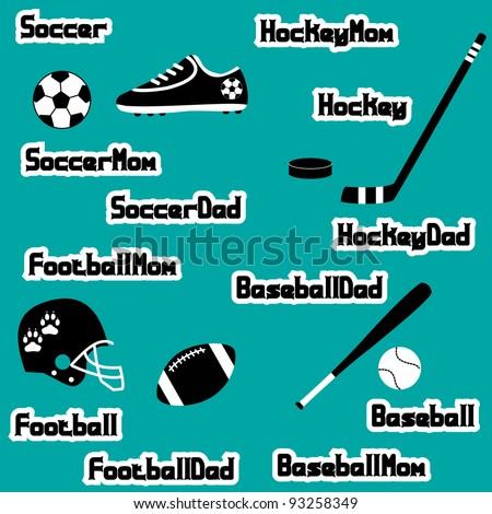 Sports Symbols - stock vector