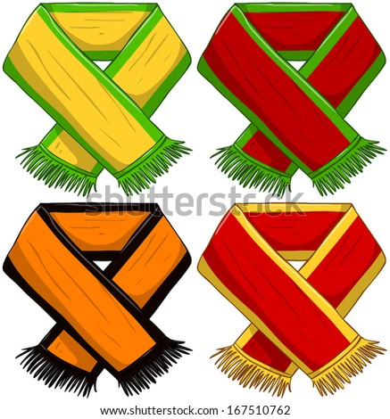 Sports Team Scarf Pack - stock vector