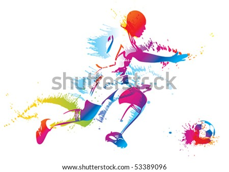 Sports training. Vector illustration. - stock vector