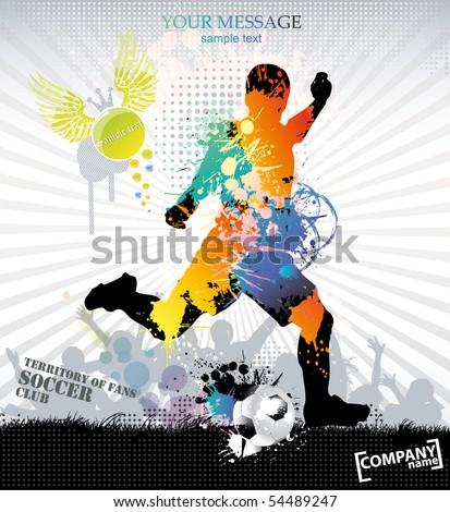 Sports training . Vector illustration. - stock vector