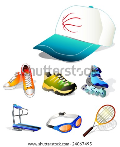 sports vector icons - stock vector
