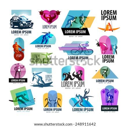 sports vector logo design template. sport or health icon. - stock vector
