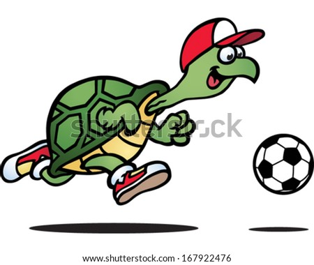 Sporty Turtle - stock vector