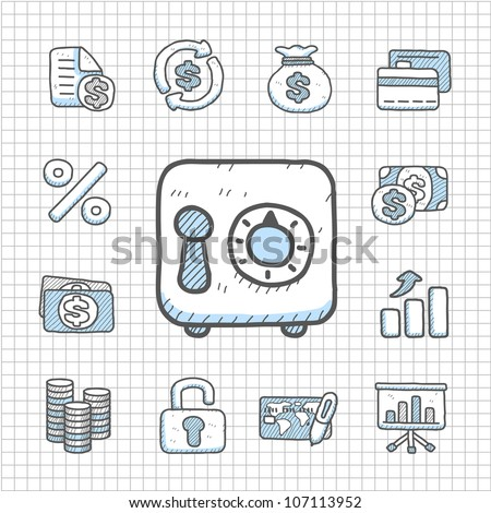 Spotless series | Hand drawn Finance icon - stock vector