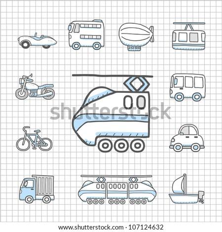 Spotless series   Transportation,car icon set - stock vector