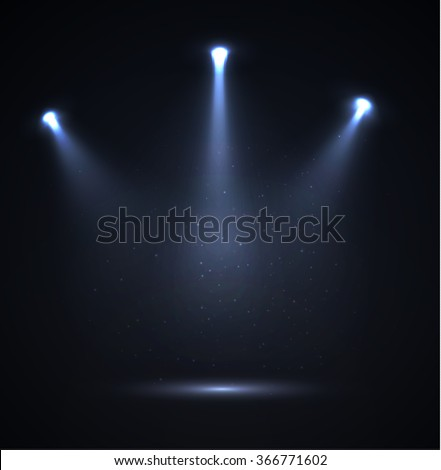 Spotlight vector background. Vector eps10. - stock vector