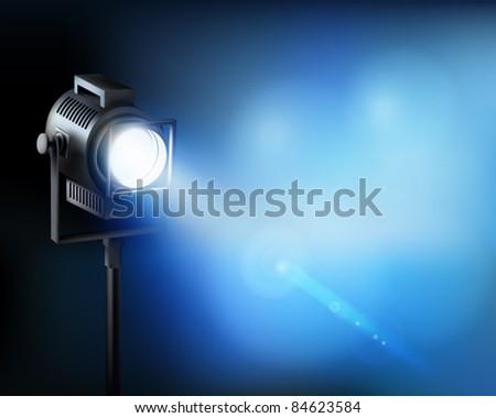 Spotlight. Vector illustration. - stock vector