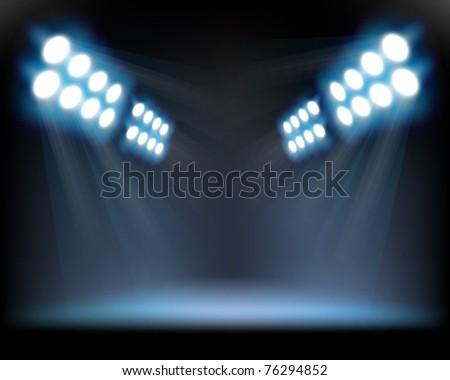 Spotlights. Vector illustration. - stock vector