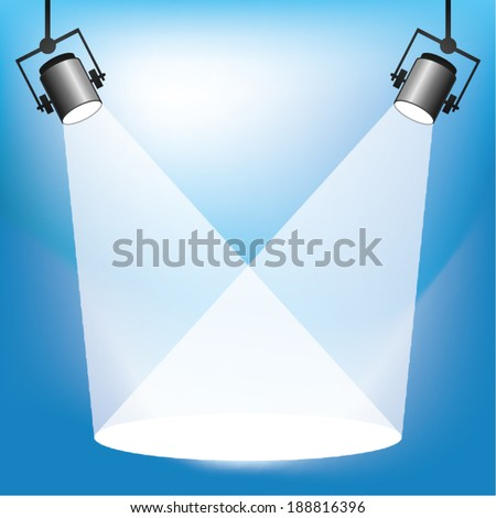 Spotlights with copy space for own text or graphics - stock vector