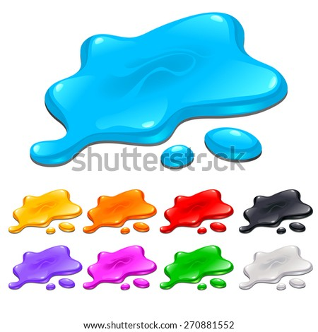Spots in different colors. Isolated objects. - stock vector