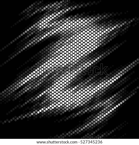 Spotted abstract background halftone wave effect. Vector illustration