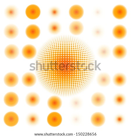 spotted flash (vector design element). EPS 10 vector file included - stock vector