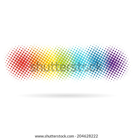 Spotted rainbow pattern backgrounds, vector illustration