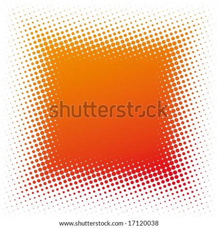 spotted square (dotted design series) - stock vector