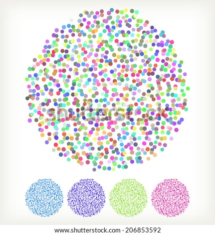 Spotted vector design element flash - stock vector