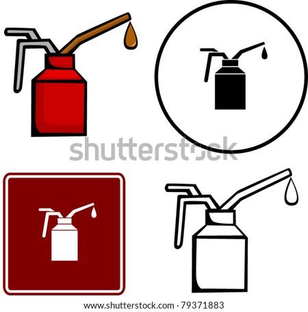 spout oiler can applicator - stock vector
