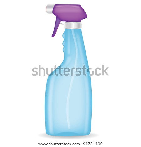 Spray bottle on a isolated background,vector - stock vector